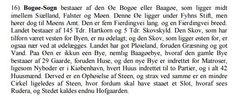 Fra Nicolai Jonge, Danmark 1777 om Bogø