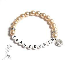 Accessoires - Armband Trauzeugin edel Geschenk Hochzeit apricot - ein Designerstück von sweetrosy bei DaWanda