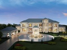 House Plans Mansion, Dream Mansion, Luxury House Plans, Luxury Homes Dream Houses, Big Mansions, Mansions Homes, Big Houses Exterior, Classic House Design, Beautiful House Plans