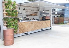A 20-foot shipping container has been transformed into a brand new Alexandria cafe.