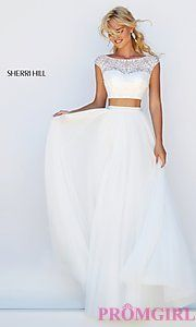 Buy Two Piece Dress with Cap Sleeves by Sherri Hill at PromGirl