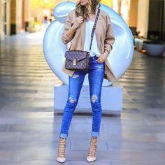 Ripped jeans and neutrals✨ http://liketk.it/2orQH @liketoknow.it #liketkit