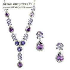 Neoglory MADE WITH SWAROVSKI ELEMENTS Crystal Auden Rhinestone Wedding Jewelry Set Bride Jewelery Accessories Gifts Wholesale