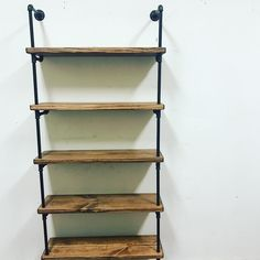 Simple pipe shelves are the best for any space.  Lots of storage and gives a clean modern industrial look.  This picture was a recent test assembly and quick iPhone snap. ❤️