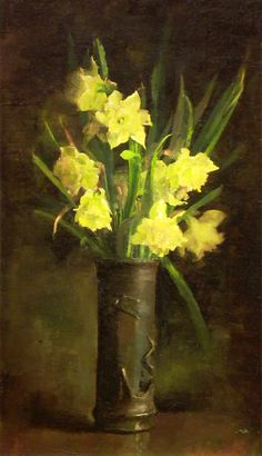 John Leslie Breck (American, 1860-1899) - Daffodils (c. 1886)