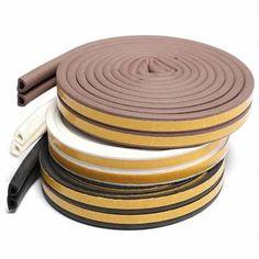 2.5M Self Adhesive D Type Foam Seal Strip Weatherbar Draft Rubber Seal