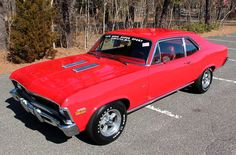 Red 1970 Chevy Nova SS got to look and see what these are selling for