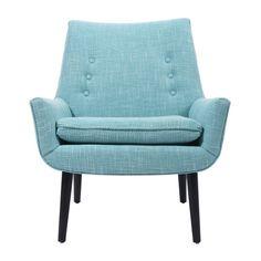 Jonathan Adler Mrs Godfrey Chair in Cashin Ocean