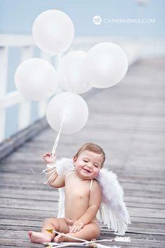Happy Valentine's Day. Baby angel photo ideas