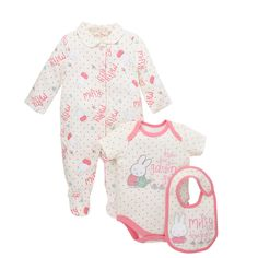Mothercare Baby Newborn Girl s Miffy Shirt and Bottoms Set - 3 Piece
