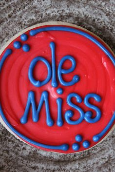 The Cookie Mama: Ole Miss Cookies