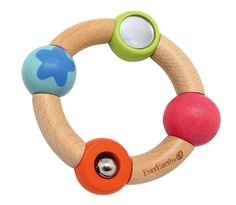 Another fun wooden infant grasping toy from EverEarth!