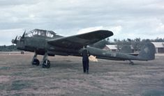 A Focke-Wulf Fw-189A-2 on the last day of the war in Europe, in an original color image taken in Sweden (May 8, 1945)