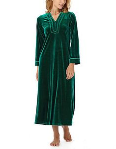 Velvet Caftan Nightgown | Lord and Taylor