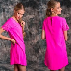 Lonely Lover Dress Absolutely Stunning Hot PInk Dress is back in stock. 100% Polyester. This dress is absolute gorgeous on and flattering for all body types. Please do not purchase this listing message me to create your own listing Lewboutiquetwo Dresses Midi