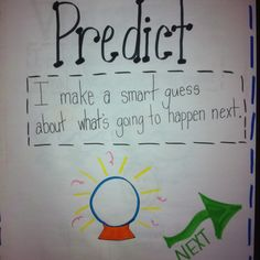 Predictions First Grade, Third Grade, Making Predictions, Teaching Reading, Teaching Ideas, English Reading, Kindergarten Class, Reading Workshop, Brain Breaks