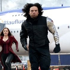 Sebastian Stan in Captain America Civil War<< I've noticed that he runs funny with the metal arm. Is it heavy? Does it hurt if he has it too close to him? Was it just Seb not wanting to damage the plates? I dont know...