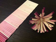 Use paint chips to make flowers, napkin holders, place cards, and so much more! These are some fun and cost effective ideas for wedding decorations.