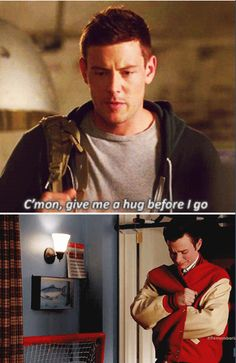 My favourite Glee brothers: Finn and Kurt  Their relationship had hard start but then their bond was unbreakable!