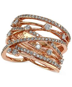 Pave Rose by EFFY Sparkling Diamond Ring (1-1/6 ct. t.w.) in 14k Rose Gold
