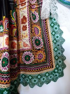 Folk Embroidery Patterns Parts of folk costume inKrakovany, Slovakia - Hungarian Embroidery, Folk Embroidery, Embroidery Patterns, Machine Embroidery, Crochet Patterns, Butterfly Embroidery, Ethno Design, Costumes Around The World, Textiles