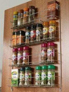 Double Tier Door Mounted Storage Rack Kitchen Storage Solution