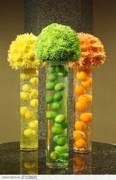Cool centerpiece for party or event. #BloomersFlowerShop