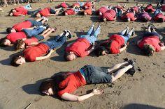 Aylan Kurdi's death recreated by 30 people dressed as Syrian boy on Moroccan…
