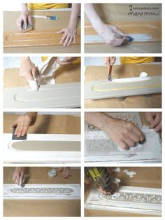 How to Paint a Tile Backsplash! - A Beautiful Mess Chalk Paint Furniture, Home Furniture, Shabby Chic Colors, Shaby Chic, Cool Pins, Beautiful Mess, Projects To Try, Place Card Holders, Diy Crafts