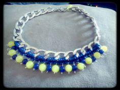 Κολιέ με κίτρινες και μπλε γυάλινες χάντρες Handmade Jewelry, Fashion, Moda, Handmade Jewellery, Fashion Styles, Jewellery Making, Diy Jewelry, Fashion Illustrations, Craft Jewelry