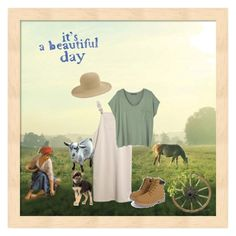 """Down On Maggies Farm"" by chauert ❤ liked on Polyvore featuring San Diego Hat Co., MANGO and WALL"