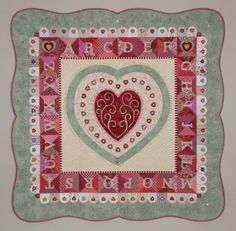 4th quilt in the alphabet series by Janet Stone
