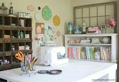I would love a sewing room like this!