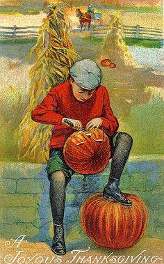 My Favorite Thanksgiving Postcard--A Joyous Thanksgiving!