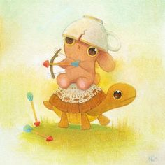 """Funny and cute art - illustrations  """"Close up detail of Heather Gross' whimsical and petit work """"Thy"""" featured in our current exhibit """"The Brave Ones"""" which is inspired and in fact in support…"""""""