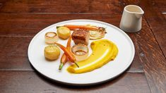 Pork Belly in a Garden of Orange - Network Ten Fondant Potatoes, Masterchef Recipes, Pork Belly Recipes, Creamed Potatoes, Crispy Pork, Orange Recipes, Pork Dishes, Food Plating, A Food