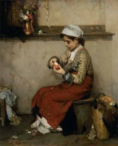 Nikiforos Lytras, Greek painter The Easter egg, Classical Period, Classical Art, Jean Leon, Greek Paintings, Oil Paintings, Art Occidental, Hellenistic Period, Greek Easter, Art Through The Ages