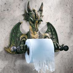 You'll love the Wall Mounted Commode Dragon Tyrant Bath Toilet Paper Holder at Wayfair - Great Deals on all Home Improvement  products with Free Shipping on most stuff, even the big stuff.