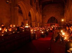 Christmas Eve candlelight services.