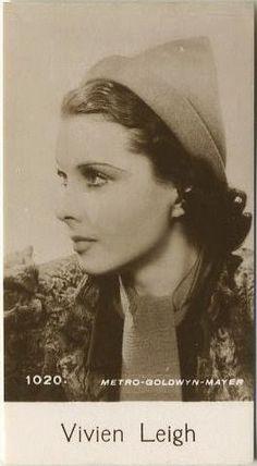 Vivien Leigh 1940 De Beukelaer Film Stars Trading Card. Gallery of entire series here: http://immortalephemera.com/movie-collectibles/de-beukelaer-film-stars-1001/