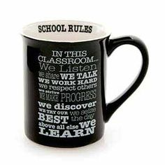 Durable 16oz stoneware mug is perfect for a teacher. Includes Giftbox. #964540 $14.99 www.lambertpaint.com