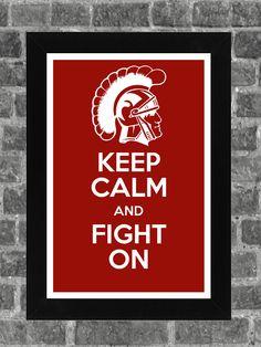 Keep Calm USC Trojans NCAA Print Art 11x17