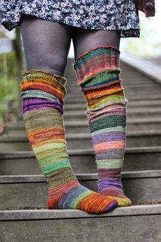 Ravelry: Surprise stripes pattern by Anna Johanna free Knitting Blogs, Loom Knitting, Knitting Patterns Free, Free Knitting, Knitting Socks, Free Pattern, Crochet Socks, Knit Crochet, Thigh High Socks