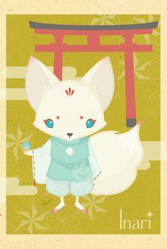 Japanese-style fox  Inari