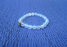 Gemstones bracelet/ Moonstone bracelet / Beaded by RetroBicycle, €12.00