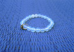 Gemstones bracelet/ Moonstone bracelet / Beaded by RetroBicycle, €12.00