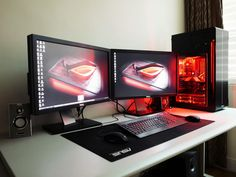Love the black & red theme