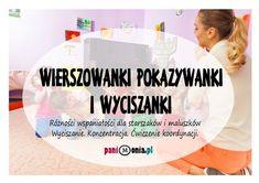 Rymowanki pokazywanki i wyciszanki - Pani Monia Craft Projects For Kids, Easy Projects, Poems About School, Baby Hacks, Kids And Parenting, Personal Development, Montessori, Diy And Crafts, Kindergarten