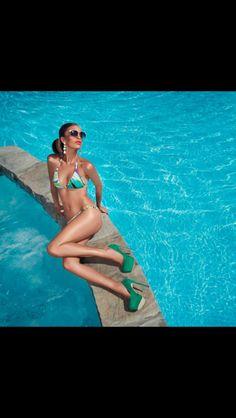 A bit of summer during the winter ! by Alesya Kornetskaya, via Behance Swimwear 2014, Luxury Swimwear, Effortless Chic, Swarovski Crystals, Fashion Beauty, Photoshoot, Pure Products, Winter, Bikinis