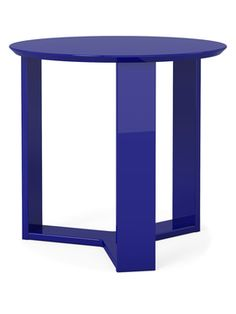 Madison 2.0 Round Side Table from Color Story: Shades of Blue on Gilt